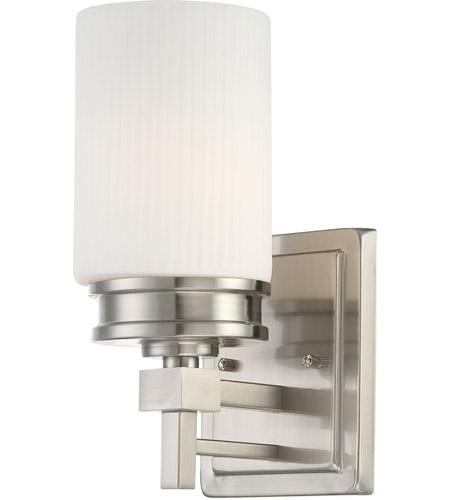Nuvo Lighting Wright 1 Light Vanity & Wall in Brushed Nickel 60/4701 photo