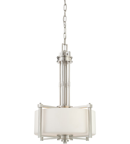 Nuvo Lighting Wright 3 Light Pendant in Brushed Nickel 60/4706 photo