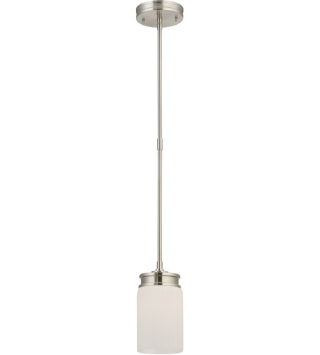 Nuvo Lighting Wright 1 Light Mini Pendant in Brushed Nickel 60/4708 photo