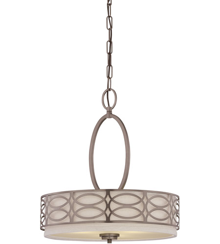 Nuvo Lighting Harlow 3 Light Pendant in Hazel Bronze 60/4720 photo