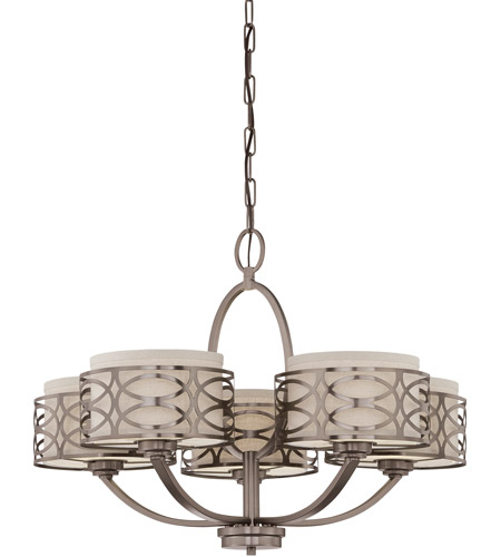 Nuvo 60/4725 Harlow 5 Light 28 inch Hazel Bronze Chandelier Ceiling Light photo