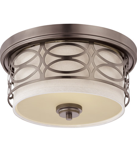 Nuvo 60/4727 Harlow 2 Light 13 inch Hazel Bronze Flushmount Ceiling Light photo