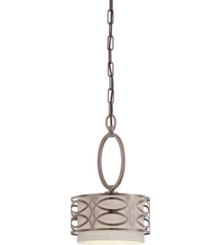 Nuvo 60/4728 Harlow 1 Light 9 inch Hazel Bronze Mini Pendant Ceiling Light photo