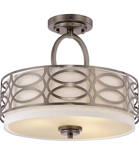 Nuvo Lighting Harlow 3 Light Semi-Flush in Hazel Bronze 60/4729
