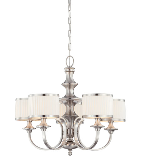 Nuvo Lighting Candice 5 Light Chandelier in Brushed Nickel 60/4735 photo