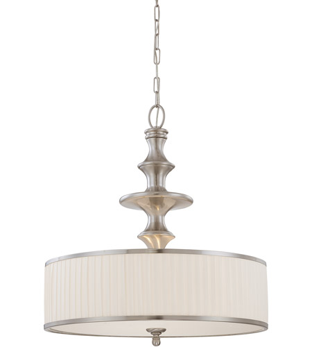 Nuvo 60/4736 Candice 3 Light 24 inch Brushed Nickel Pendant Ceiling Light photo