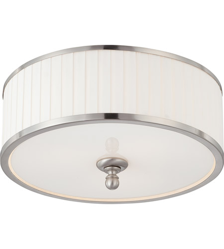 Nuvo 60/4741 Candice 3 Light 15 inch Brushed Nickel Flushmount Ceiling Light photo
