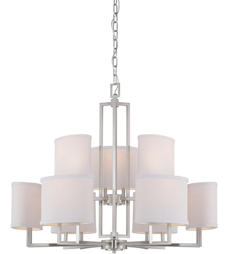 Nuvo 60/4759 Gemini 9 Light 31 inch Brushed Nickel Chandelier Ceiling Light photo