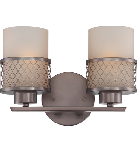 Nuvo Lighting Fusion 2 Light Vanity & Wall in Hazel Bronze 60/4782 photo