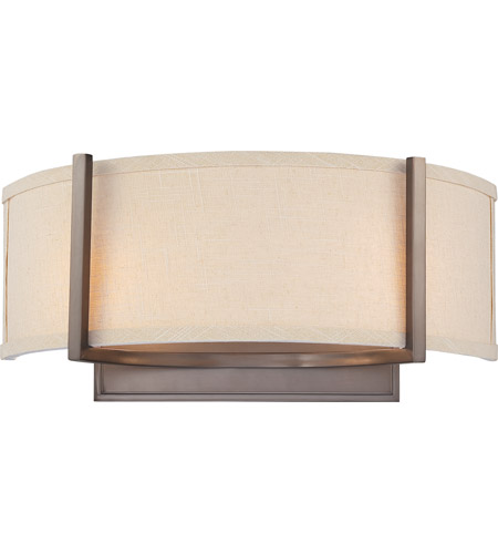 Nuvo 60/4854 Gemini 2 Light 16 inch Hazel Bronze Wall Sconce Wall Light photo