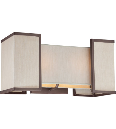 Nuvo Lighting Labyrinth 2 Light Wall Sconce in Henna Bronze 60/4872 photo