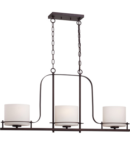 Nuvo 60 5006 loren 3 light 36 inch venetian bronze island pendant ceiling light photo