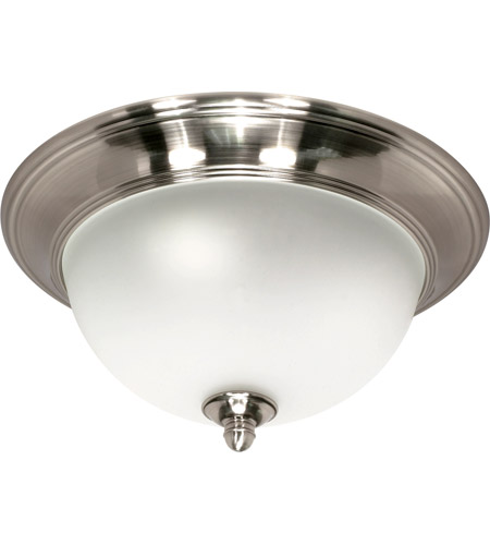 Nuvo Lighting Palladium 1 Light Flushmount in Smoked Nickel 60/501 photo