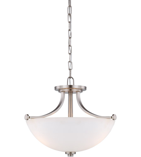 Nuvo 60/5017 Bentley 3 Light 18 inch Brushed Nickel Semi-Flush Mount Ceiling Light photo