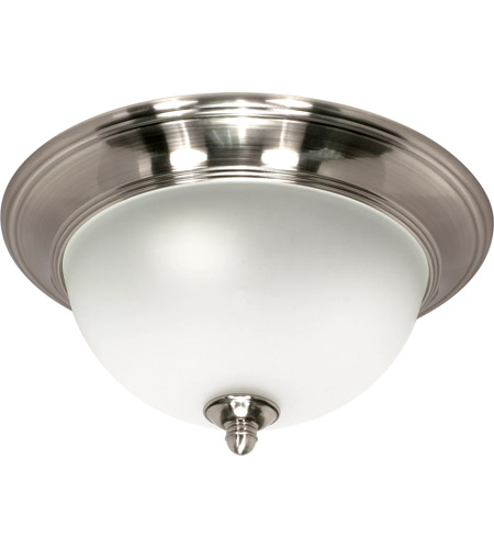 Nuvo Lighting Palladium 2 Light Flushmount in Smoked Nickel 60/502 photo