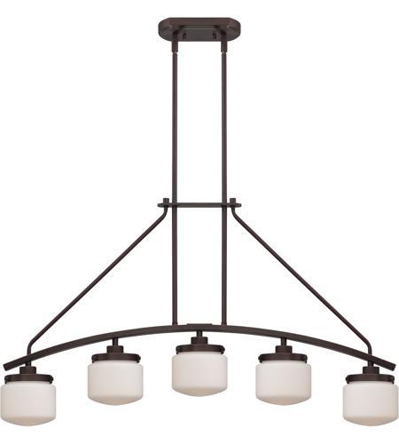 Nuvo lighting austin 5 light island pendant in russet bronze 60 5124