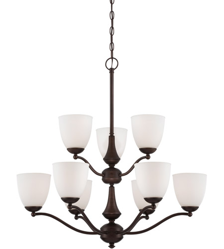 Nuvo 60/5159 Patton 9 Light 30 inch Prairie Bronze Chandelier Ceiling Light photo