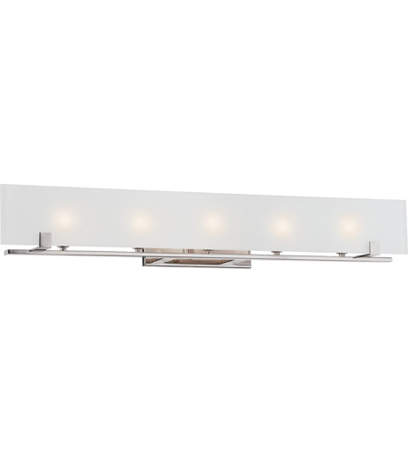 Nuvo 60/5178 Lynne 5 Light 36 inch Polished Nickel Vanity Light Wall ...