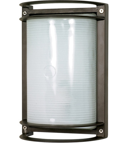 Nuvo 60/531 Signature 1 Light 10 inch Architectural Bronze Outdoor Wall Lantern, Rectangle photo
