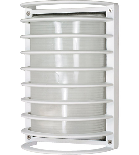Nuvo Lighting Signature 1 Light Outdoor Wall Lantern in Semi Gloss white 60/532 photo