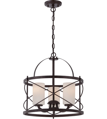 Nuvo 60 5337 Ginger 3 Light 16 Inch Old Bronze Pendant Ceiling