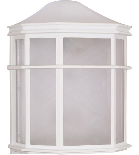 Nuvo Lighting Signature 1 Light Outdoor Wall Lantern in White 60/537 photo