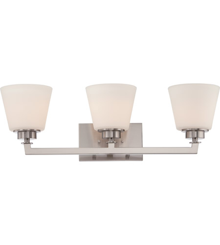 Nuvo 60/5453 Mobili 3 Light 25 inch Brushed Nickel Vanity Light Wall Light photo thumbnail