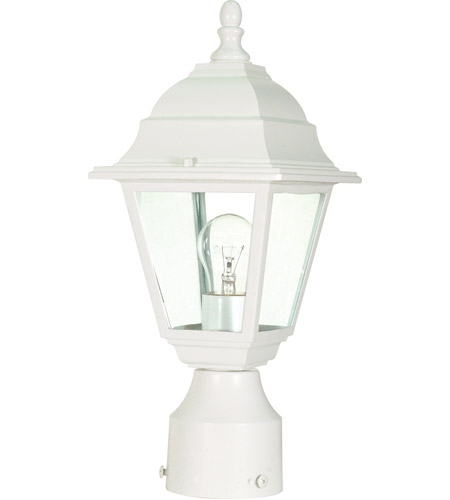 Nuvo 60/546 Briton 1 Light 14 inch White Outdoor Post Lantern photo