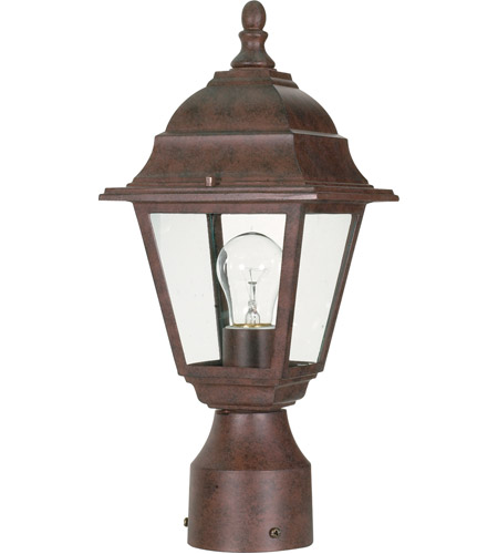 Nuvo Lighting Briton 1 Light Outdoor Post Lantern in Old Bronze 60/547 photo