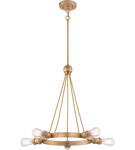 Nuvo Natural Brass Chandeliers