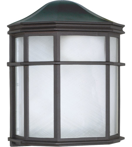 Nuvo 60/583 Signature 1 Light 10 inch Textured Black Outdoor Wall Lantern photo