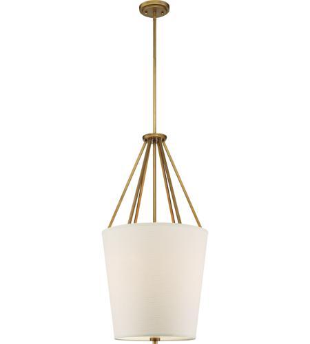 Nuvo Lighting Nuvo 60//5842 Three Light Pendant Natural Brass