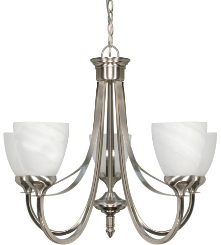 Nuvo Brushed Nickel Iron Chandeliers