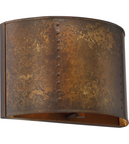 Nuvo 60/5891 Kettle 1 Light 12 inch Weathered Brass Vanity Light ...