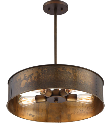 Nuvo 60/5894 Kettle 4 Light 20 inch Weathered Brass ...