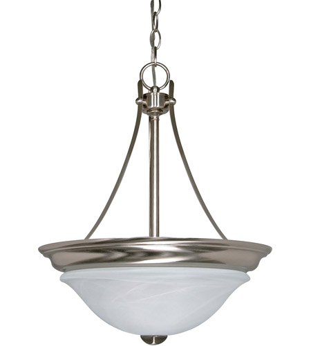 Nuvo 60/590 Triumph 2 Light 16 inch Brushed Nickel Pendant Ceiling Light photo