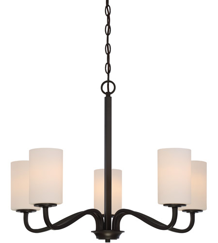 Nuvo 60/5905 Willow 5 Light 27 inch Forest Bronze Chandelier Ceiling Light photo thumbnail
