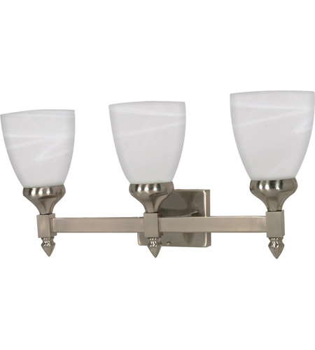 Nuvo 60/593 Triumph 3 Light 21 inch Brushed Nickel Vanity & Wall Wall Light photo
