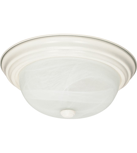 Nuvo 60/6004 Signature 2 Light 11 inch Textured White Flush Mount Ceiling Light photo thumbnail