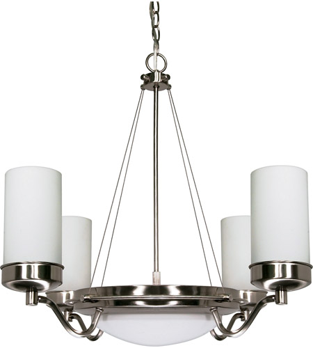 Nuvo 60/607 Polaris 6 Light 29 inch Brushed Nickel Chandelier Ceiling Light photo thumbnail