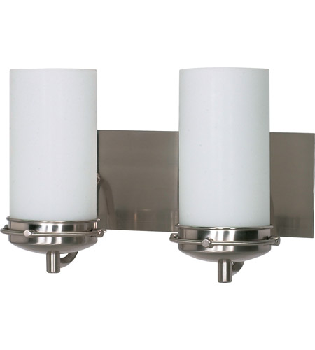 Nuvo 60/612 Polaris 2 Light 14 Inch Brushed Nickel Vanity U0026 Wall Wall Light