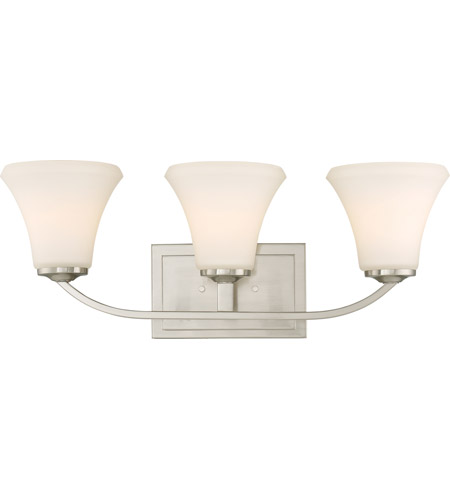 Nuvo 60/6203 Fawn 3 Light 22 inch Brushed Nickel Vanity Light Wall Light