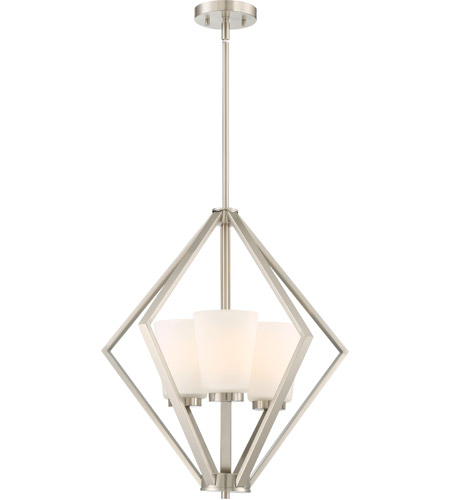 Nuvo 60 6245 Nome 3 Light 20 Inch Brushed Nickel Pendant Ceiling
