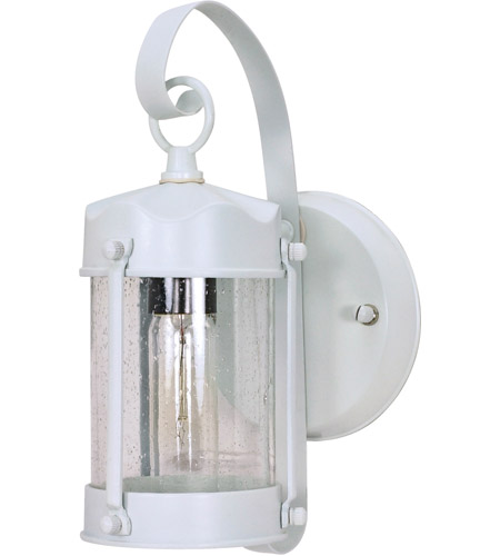 Nuvo Lighting Signature 1 Light Outdoor Wall Lantern in White 60/633 photo