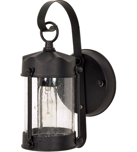 Nuvo 60/635 Signature 1 Light 11 inch Textured Black Outdoor Wall Lantern photo