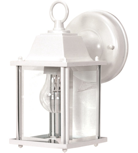 Nuvo Lighting Signature 1 Light Outdoor Wall Lantern in White 60/636 photo