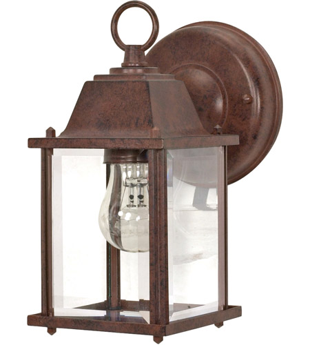Nuvo Lighting Signature 1 Light Outdoor Wall Lantern in Old Bronze 60/637 photo