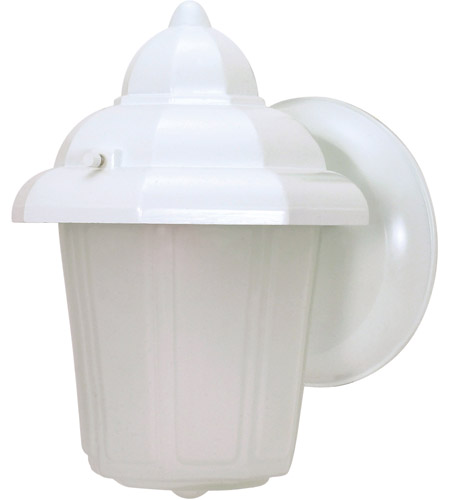 Nuvo Lighting Signature 1 Light Outdoor Wall Lantern in White 60/639 photo