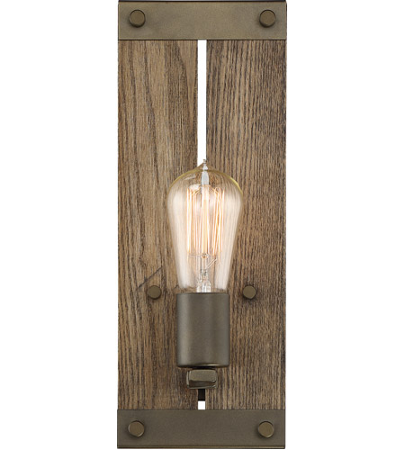Nuvo 60/6427 Winchester 1 Light 5 inch Bronze and Aged Wood Vanity ...