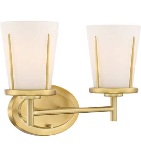 Nuvo 60/6532 Serene 2 Light 14 inch Natural Brass Wall Sconce Wall Light alternative photo thumbnail